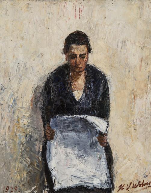 , 'Mère lisant le journal,' 1929, Musée d'Ixelles
