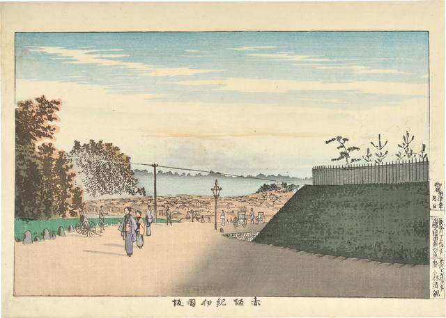 , 'Kinokuni Slope in Akasaka ,' 1880, Scholten Japanese Art