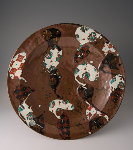 , 'Large plate, kaki glaze with akae decoration,' 2010, Pucker Gallery