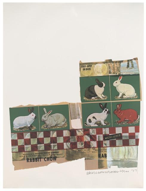 Robert Rauschenberg, 'Rabbit Chow (Chow Bags)', 1977, Print, Screen print with plastic thread, San Francisco Museum of Modern Art (SFMOMA)
