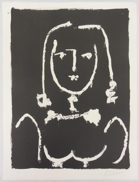 Pablo Picasso, 'Buste blanc sur Noir ', 1949, Print, Lithograph, Galerie Raphael