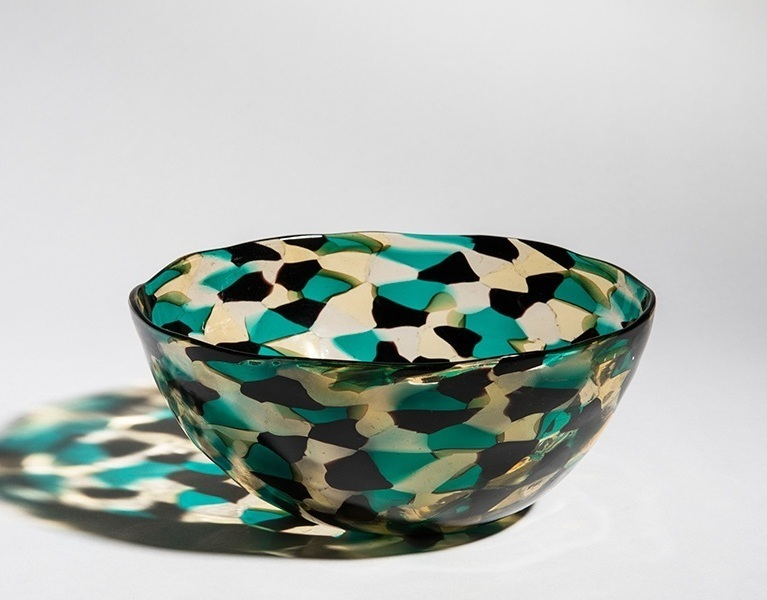 """Murrine triangolari"" bowl, circa 1953.