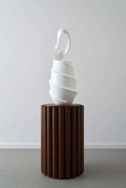 Andreas Schmitten, 'Wartende', 2020, Sculpture, Bronze, lacquer, corten steel, KÖNIG GALERIE