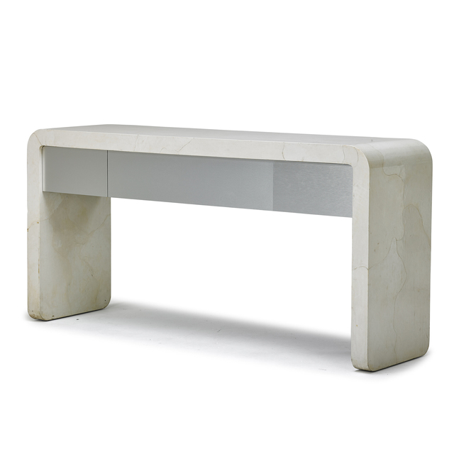 Attributed to Karl Springer, 'Console table', 1980s, Rago