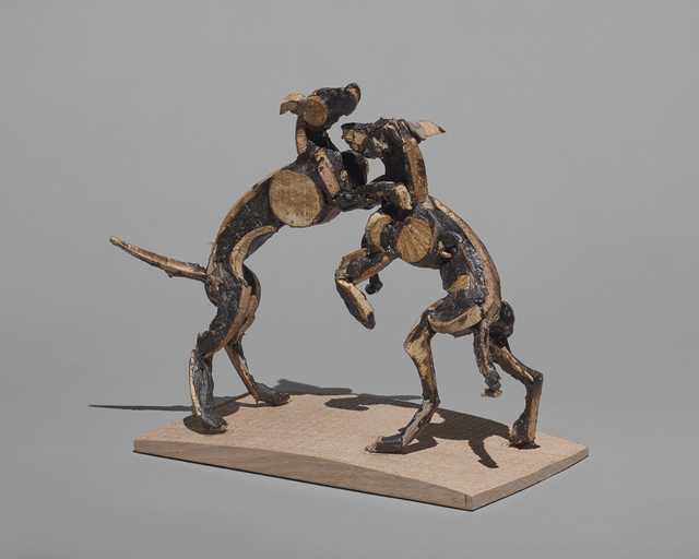 , '9. Playing Dogs. Wooden original. To be cast in Bronze,' 2017, Sladmore Contemporary
