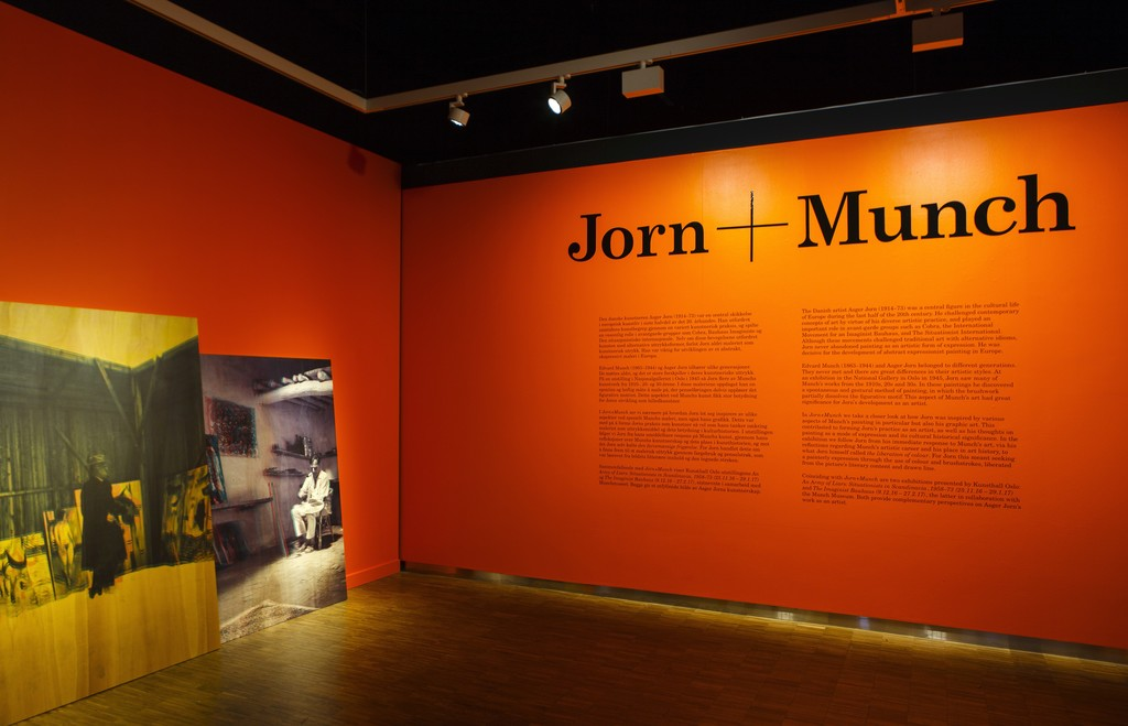 "Installation view of ""Jorn + Munch"" at Munch Museum, Oslo (2016-2017)"