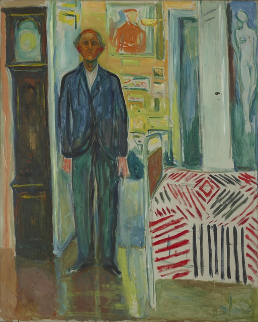 , 'Self-Portrait. Between the Clock and the Bed,' 1940-1943, Munch Museum