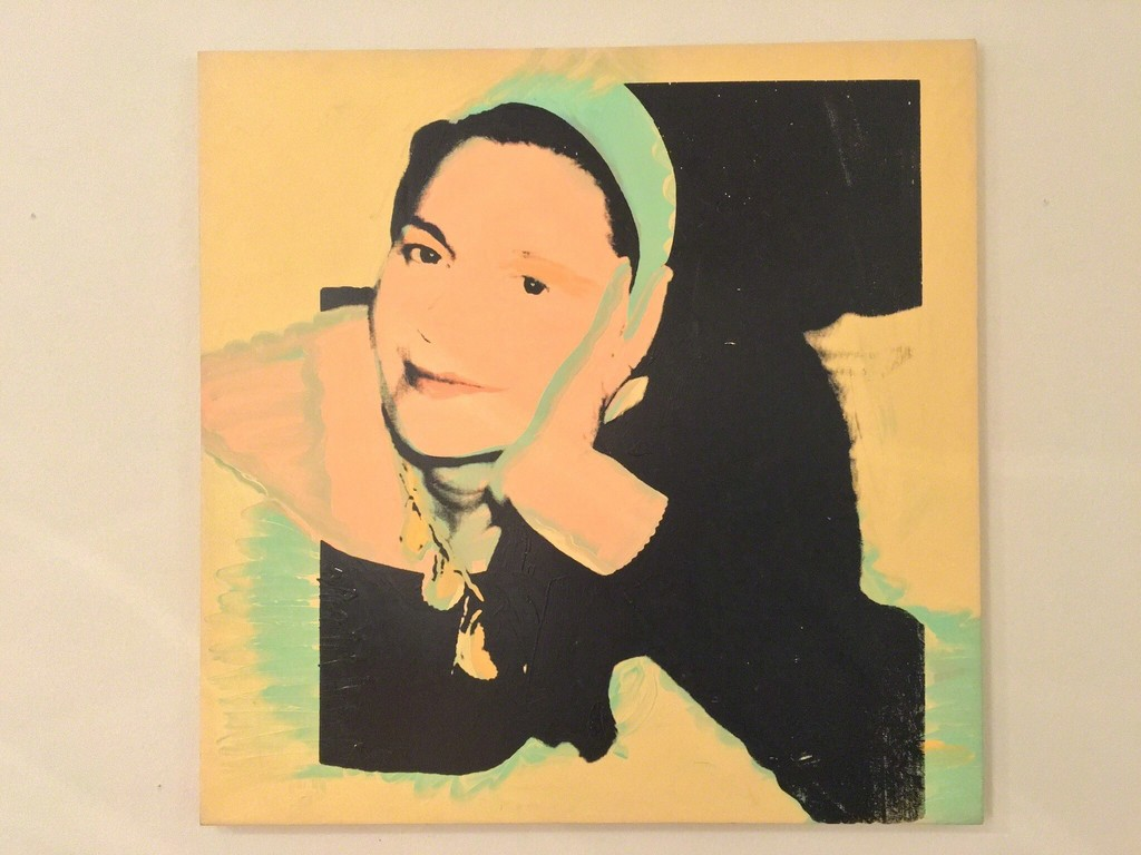 """Andy Warhol """"Portrait of Marie-Louise Jenerette"""" 1974 Synthetic polymer paint and silkscreen ink on canvas 101,6 x 101,6 cm Unique"""