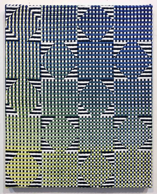 Samantha Bittman, 'Untitled ', 2019, Painting, Acrylic on hand-woven textile, DC Moore Gallery