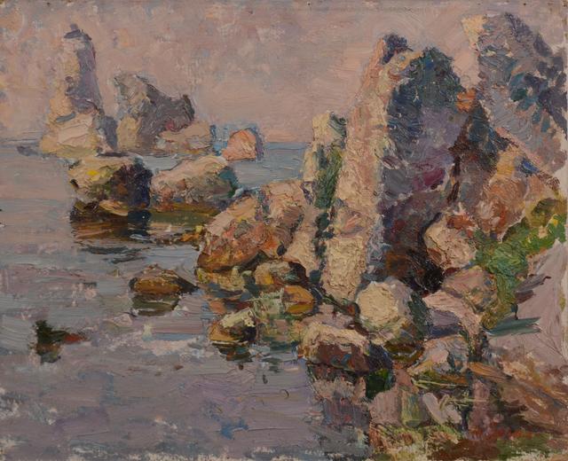 Anatoly Egorovich Zorko, 'seascape in the morning at sea, Kerch', 1995, Art-Impression