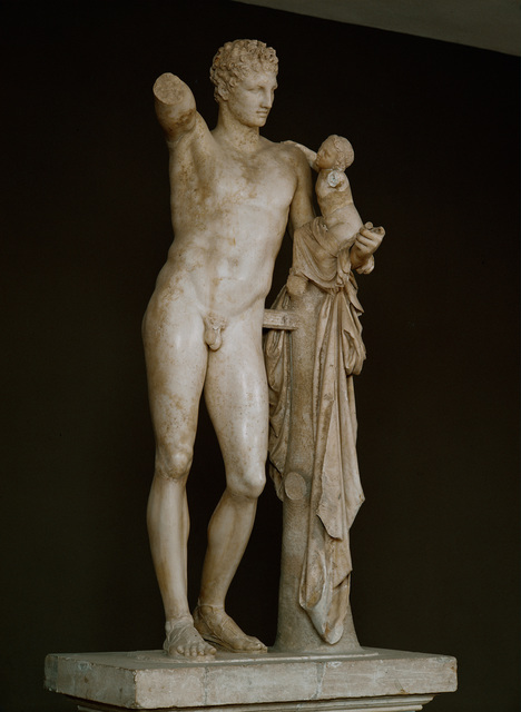Praxiteles, 'Hermes with infant Dionysos on his arm', ca. 330 BCE, Erich Lessing Culture and Fine Arts Archive