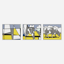 Cow Triptych (Cow Going Abstract)