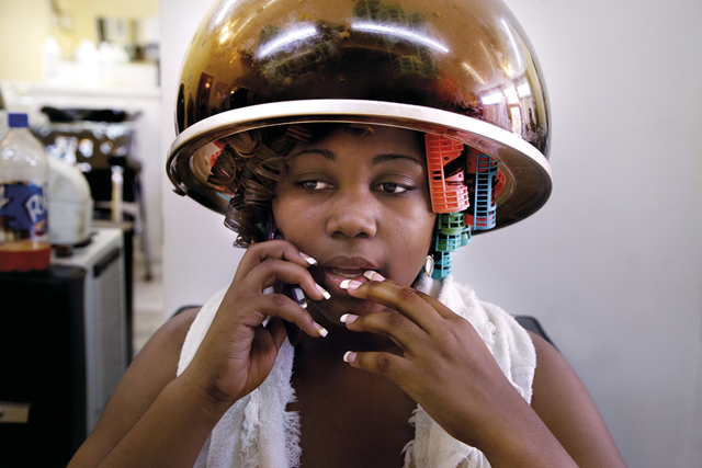 Gillian Laub, 'Keyke and Kera in Dominique's Personal Touch Hair salon before the black prom', ca. 2009, Benrubi Gallery