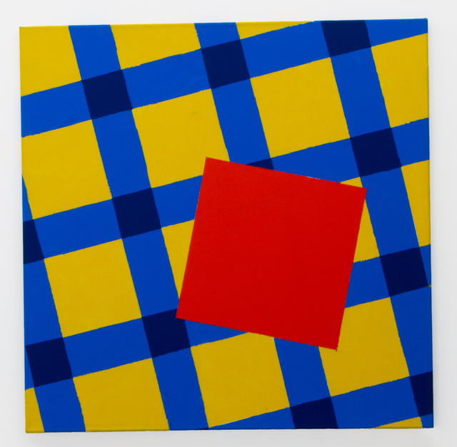 , 'The orange square on the yellow-blue table-cloth,' 2014, narrative projects
