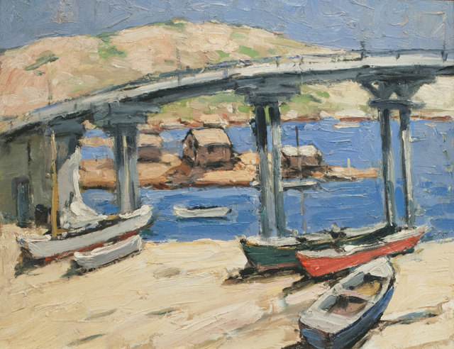 Walter Farndon, 'The Bridge: Rowboats on the Beach', 19th -20th Century, Vose Galleries