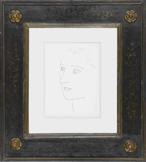 """, 'Tête de femme (Sara Murphy) Page 13 of the """"Carnet Cap d'Antibes"""",' 1923, Galerie Gmurzynska"""