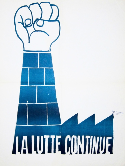 Anonymous, 'May '68 Poster  La Lutte continue (The Struggle Continues)', 1968, Galerie OSP