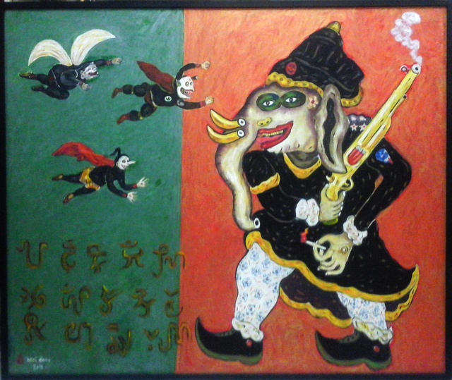 , 'Raja Gajah With Three Punakawan,' 2011, Mizuma Art Gallery