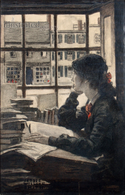 JESSIE WILLCOX SMITH, 'Young Woman Gazing', 1900, The Illustrated Gallery