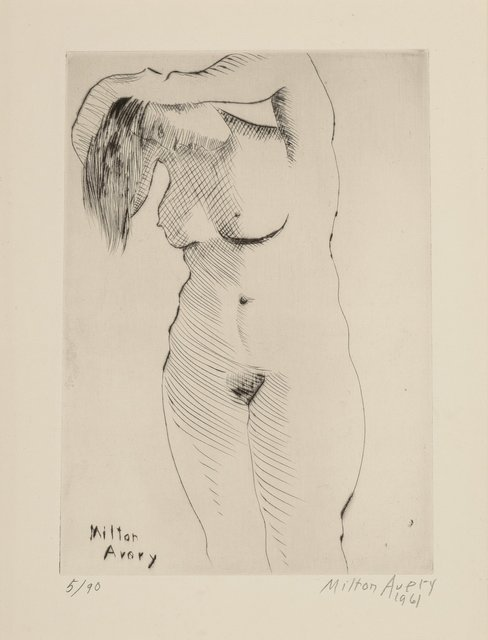 Milton Avery, 'Nude Combing Hair, from the deluxe edition', 1961, Heritage Auctions