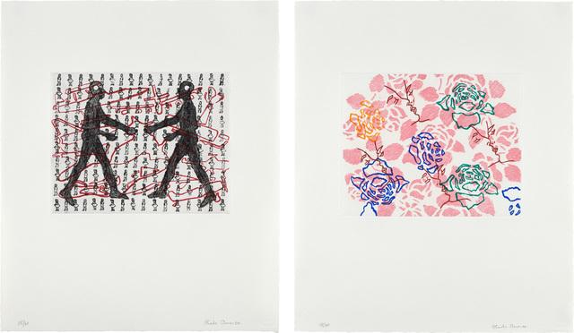 Ghada Amer, 'Two works: (i) Amalia and I; (ii) Pink Wallpaper', 2000, Phillips