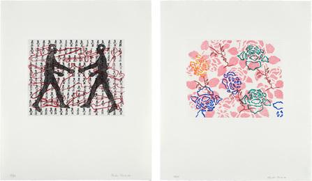 Two works: (i) Amalia and I; (ii) Pink Wallpaper