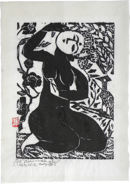 , 'Goddess with Falcon and Camellias,' 1962, Scholten Japanese Art