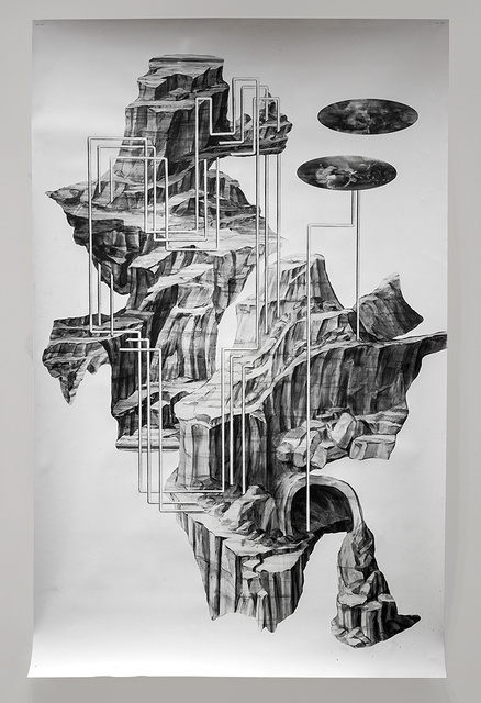Katja Davar, 'What the Mountains Should Have Said', 2020, Drawing, Collage or other Work on Paper, Pencil, graphite, varnish on 250g/m2 papier collé, Kadel Willborn