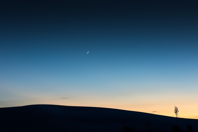 , 'Under a Crescent Moon, Twilight, September 26, 2014, White Sands National Monument, New Mexico,' 2014, Afterimage Gallery