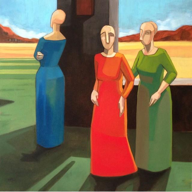 , 'Women waiting ,' 2014, Wentworth Galleries