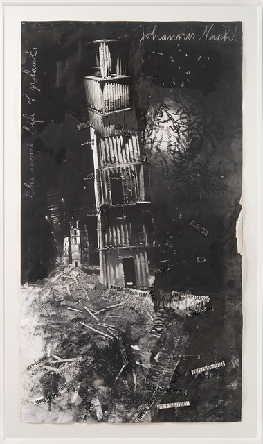 Anselm Kiefer, 'Johannis-Nacht', 2007, Mixed Media, Gouache, acrylic, ink on photo collage, glass and cardboard, Il Ponte