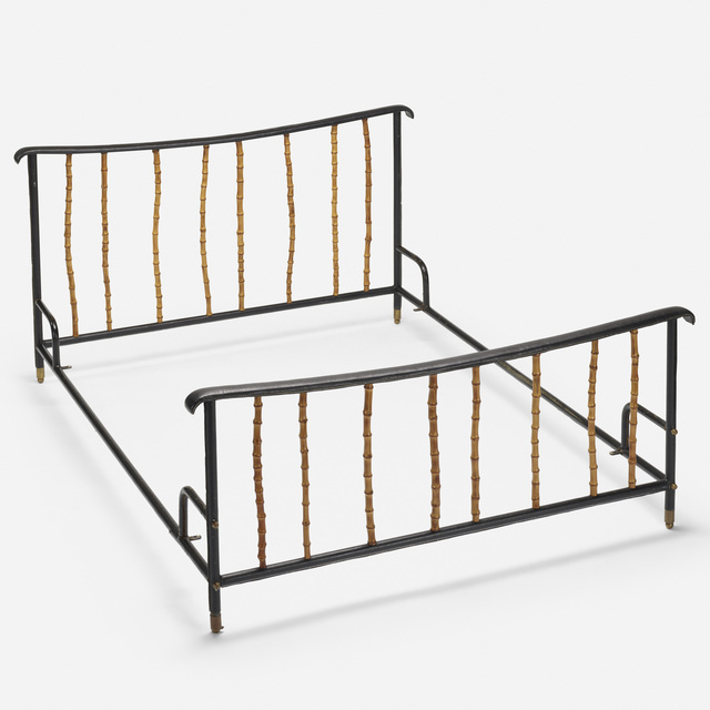 Attributed to Jacques Adnet, 'full-size bed', c. 1950, Wright