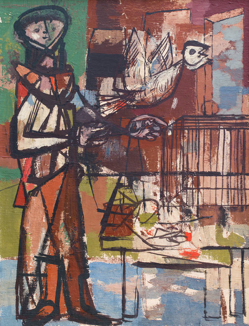 , 'Bird and Cage ,' ca. 1948, Ben Uri Gallery and Museum