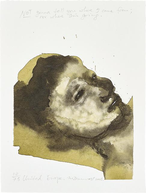 Marlene Dumas, 'United Europe', 2003/05, Phillips