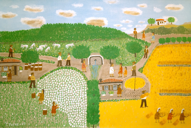 , 'Harvesting Cotton and Barley,' 2003, C. Grimaldis Gallery