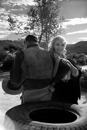 ", 'Marilyn Monroe on location during the filming of ""The Misfits"", Reno, Nevada,' 1960, Staley-Wise Gallery"