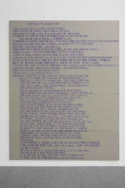 , 'Interpretation Drawing, Little I's Love You,' 2010, Galerie Emanuel Layr