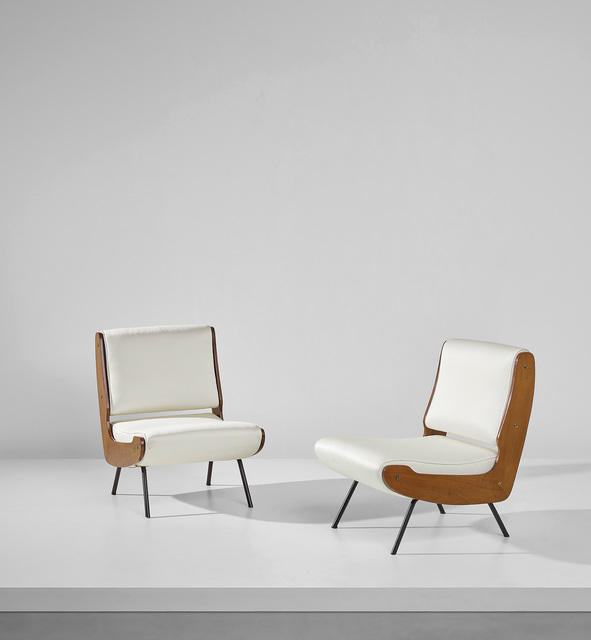 Gianfranco Frattini, 'Pair of lounge chairs', Phillips