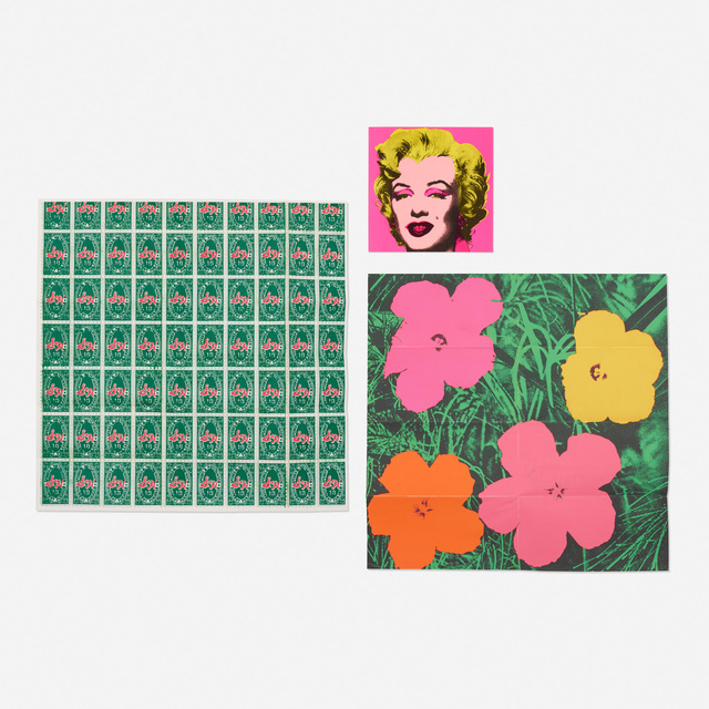 Andy Warhol, 'Marilyn, Flowers and S&H Green Stamps (three mailers)', 1964/1965/1981, Rago/Wright