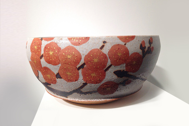 , 'Bowl with Red Plum Blossom Design,' 2013, Onishi Gallery