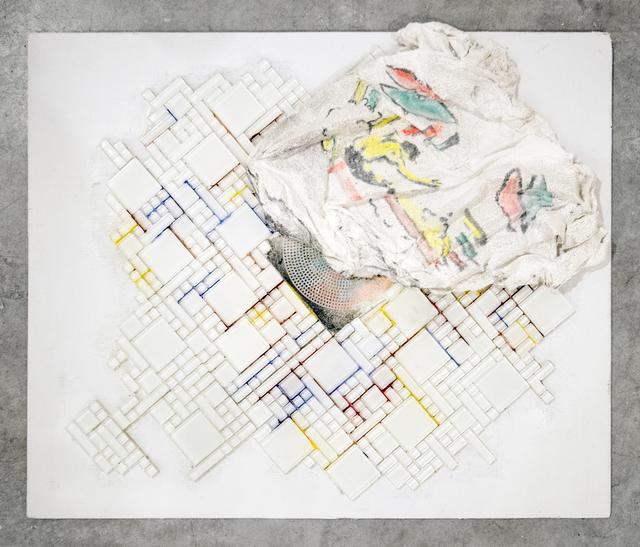 , 'Tile with Plaster Rag,' 2016, GRIN