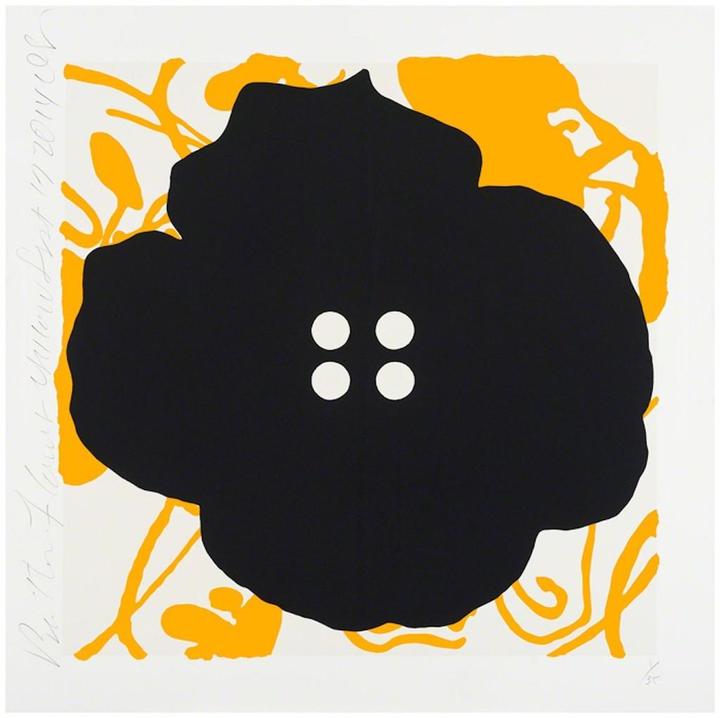 Button Flower Yellow, Sept 17, 2014