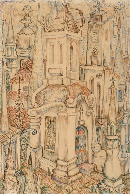 René Portocarrero, 'Cathedral', 1942, Heritage Auctions