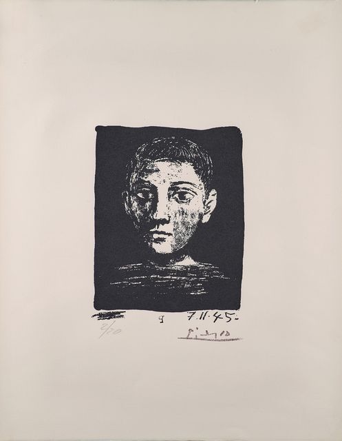 Pablo Picasso, 'Head of Young Boy, from The Poem of Paul Eluard', Rago/Wright