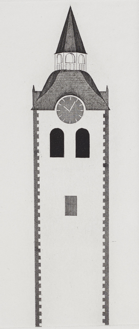 , 'The Church Tower and the Clock,' 1969, Marlborough London