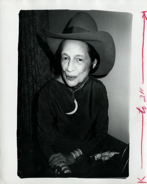 Andy Warhol, 'Diana Vreeland wearing a cowboy hat', ca. 1980, The Future Perfect