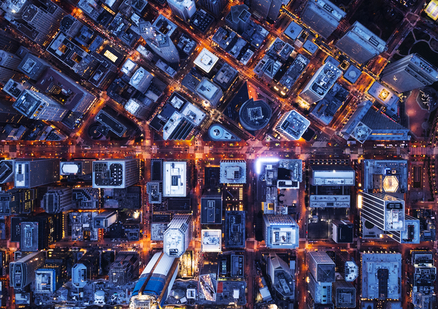 , 'Aerial Views Block Design Market St,' 2017, aQur Gallery
