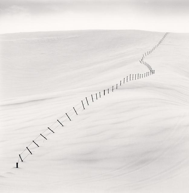 Michael Kenna, 'Hillside Fence, Study 7, Teshikaga, Hokkaido, Japan', 2004 (printed 2019), Peter Fetterman Gallery
