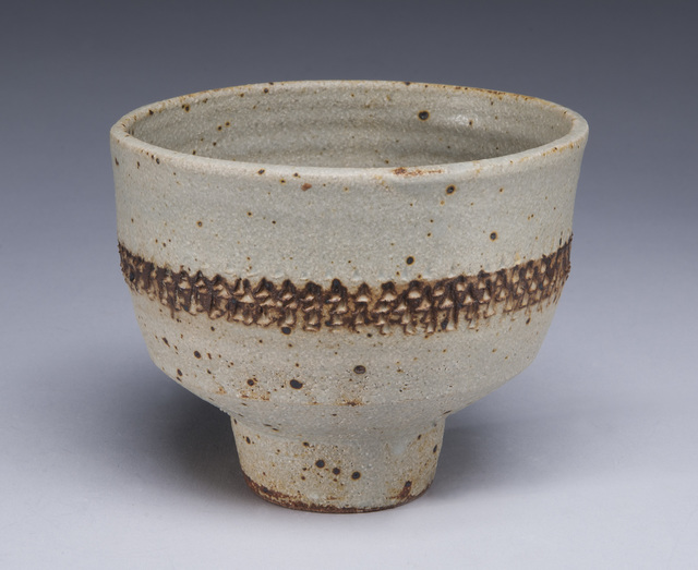 , 'Footed Bowl, Matte Grey w/ Tire Tracks ,' , LACOSTE / KEANE GALLERY