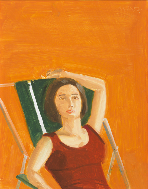 Alex Katz, 'Vivien with Orange', 2007, Rosenbaum Contemporary